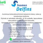 Seuraava Delfins keskusteluryhmä on torstaina 1.11.
