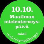 Maailman mielenterveyspäivän 10.10. kampanjamerkki