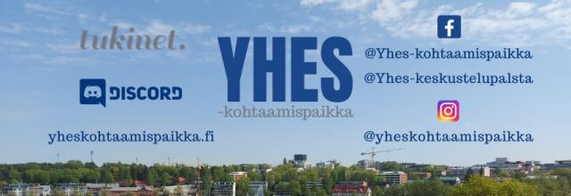 YHES-logo ja hankkeen somekanavat